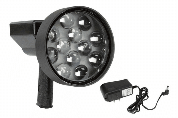 10 Million Candlepower Rechargable LED Light Hunting Spotlight- 36 Watts - Pistol Style -3200 Lumen