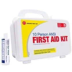 10 person Plastic ANSI first aid Kit w/ Eyewash