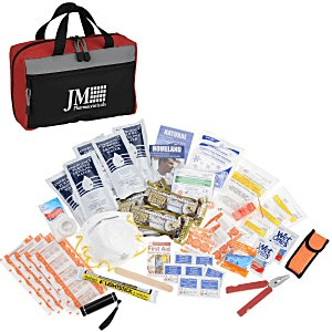 25 Branded First Aid Kits | Emergency Preparedness Kit - Blue