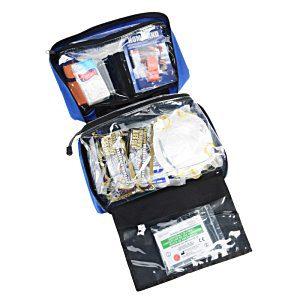 25 Branded First Aid Kits | Emergency Preparedness Kit - Blue