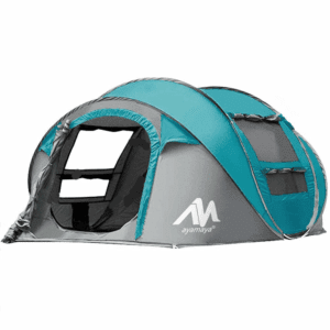 Automatic/auto Camping Tents 3/4 Person/People Easy Up Instant Setup Ventilated,iClover [2 Door] [Mesh Window] Waterproof Pop Up Big Family Privacy