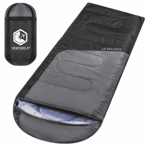 Backpacking Sleeping Bag – Lightweight, Comfortable, Water Resistant, 3 Season Sleeping Bag for Adults & Kids – Ideal for Hiking, Camping & Outdoor