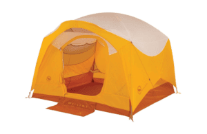 Big Agnes Big House Deluxe Tent: 4-Person 3-Season Gold/White, One Size