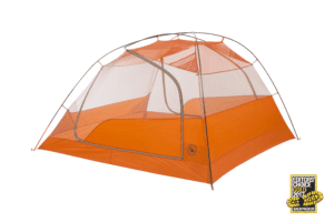 Big Agnes Copper Spur HV UL4 Tent: 4-Person 3-Season Gray/Orange, One Size