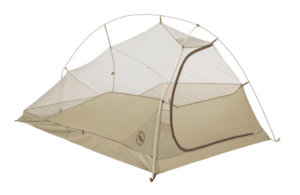 Big Agnes Fly Creek HV UL2 Bikepack Tent: 2-Person 3-Season Gray/Gold, One Size