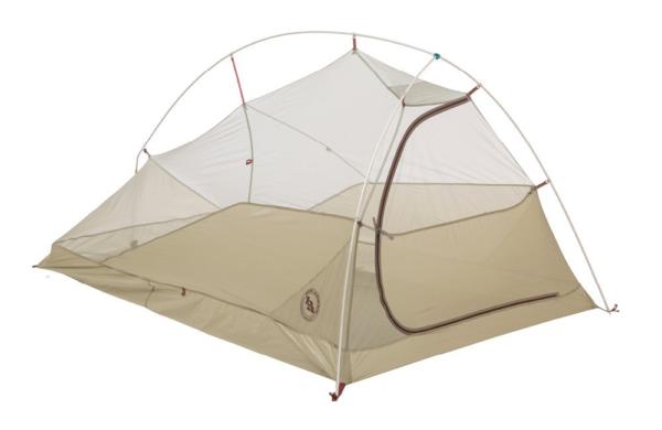 Big Agnes Fly Creek HV UL2 Bikepack Tent: 2-Person 3-Season Gray/Gold, One Size