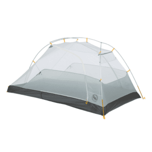 Big Agnes -Tiger Wall UL mtnGLO 2 Person Tent in Light Gray/Gold | Plastic/Silicone/Nylon