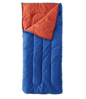 Camp Sleeping Bag, Cotton-Blend-Lined Regular 40° Blue | L.L.Bean