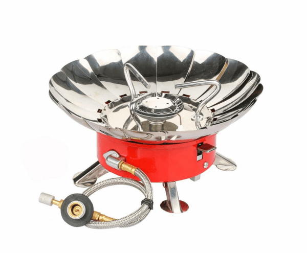 Camping Gas Stove, Willor Portable Backpacking Gas Stove 4500W Windproof Camp Cooking Stove with Piezo Ignition and Adjustable Valve for Camping