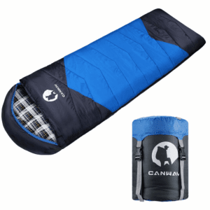 CANWAY Sleeping Bag with Compression Sack, Lightweight and Waterproof for Warm & Cold Weather, Comfort for 4 Seasons Camping/Traveling/Hiking