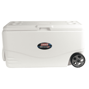 Coleman 100 Quart Xtreme 5 Day Heavy-Duty Cooler With Wheels, White