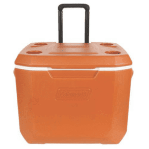 Coleman 50-Quart Xtreme 5-Day Heavy-Duty Cooler with Wheels, Size: Large, Orange
