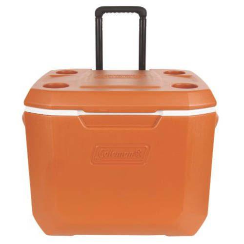 Coleman 50-Quart Xtreme 5-Day Heavy-Duty Cooler with Wheels, Size: Large, Orange