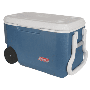 Coleman 62-Quart Xtreme 5-Day Heavy-Duty Cooler with Wheels, Blue