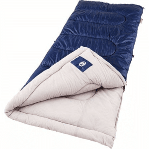 Coleman Brazos Cold Weather Sleeping Bag, Navy/Gray