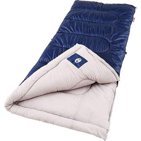 Coleman Brazos Cold Weather Sleeping Bag, Navy/Gray