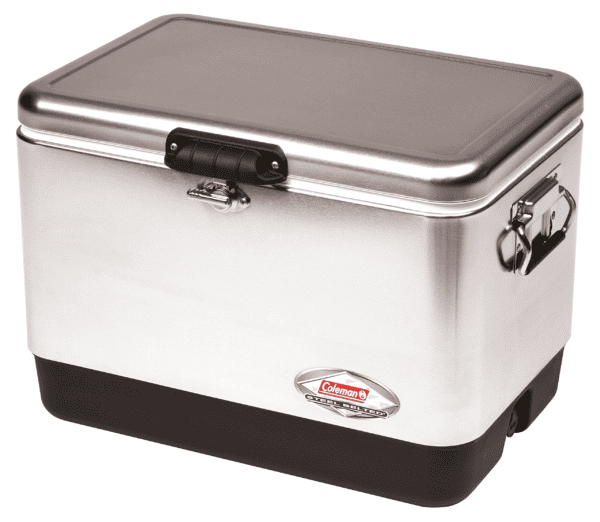 Coleman Cooler | Steel-Belted Cooler Keeps Ice Up to 4 Days | 54-Quart Cooler for Camping, BBQs, Tailgating & Outdoor Activities