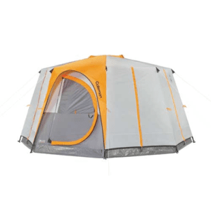 Coleman Octagon 98 8-Person Full Rainfly Tent, Gray/Orange