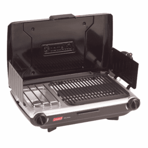 Coleman PerfectFlow Portable Camp Propane Grill/Stove, Black