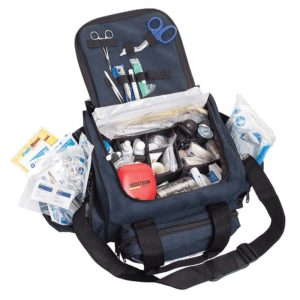 Curaplex Medical Equipment AED Package w/ Defibrillator II Kit, Navy Blue Bag