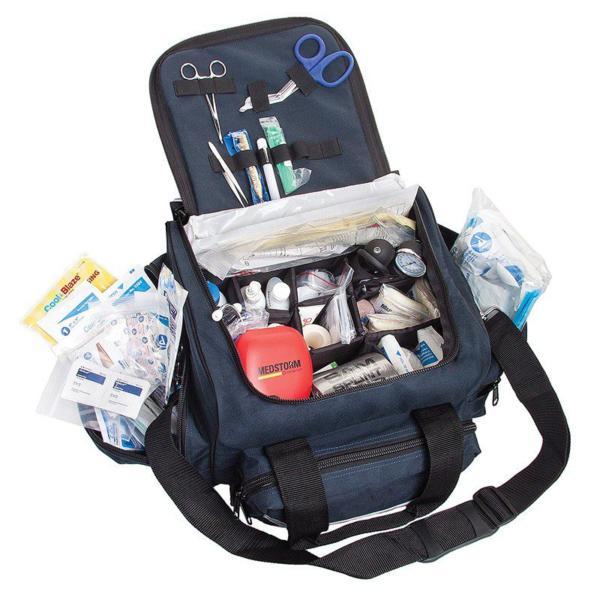 Curaplex Medical Equipment AED Package w/ Defibrillator II Kit, Navy Blue Bag