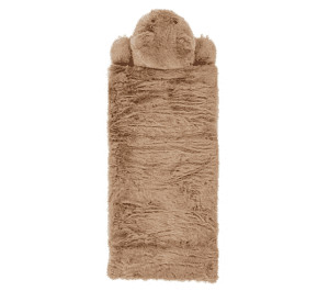 Faux Fur Bear Sleeping Bag, Sleeping Bag, Brown