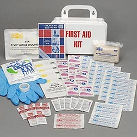 First Aid Kit, 25-Person Ansi Compliant, Plastic, Lot of 1, Men's