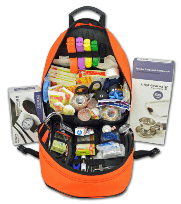 First responder EMT/EMS backpack stocked first aid supplies kit by gearbags