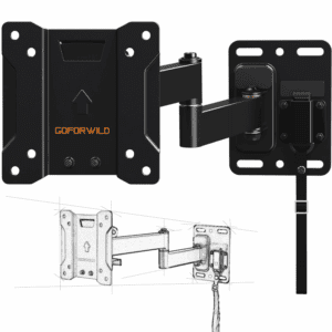 GOFORWILD RV TV Mount for Camper Full Motion Lockable TV Wall Mount for 10-26 inch LED LCD OLED Plasma Flat Screen TV, RV Mount on Motor Home Camper Truck