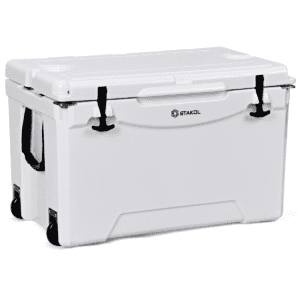 Gymax 80 Quart Cooler 2 Wheels Ice Chest Heavy Duty Fishing Hunting Keep Warm White, Men's, Size: 23.5