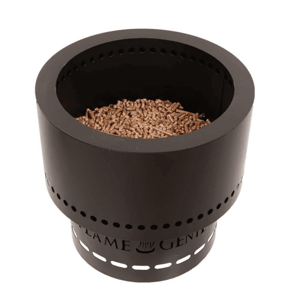 Hy-c Company Flame Genie Pellet Fire Pit in Black Made in USA