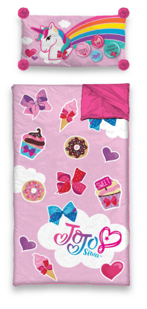 Jojo Siwa Slumber Sleeping Bag with Bonus Pillow, Size: 26 inch x 46 inch, Pink