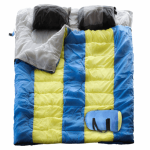 LETTON Double Sleeping Bag with 2 Automatic Inflatable Pillows,Waterproof Lightweight 2 Person Adults Sleeping Bag for Camping/Hiking/Outdoor/Home