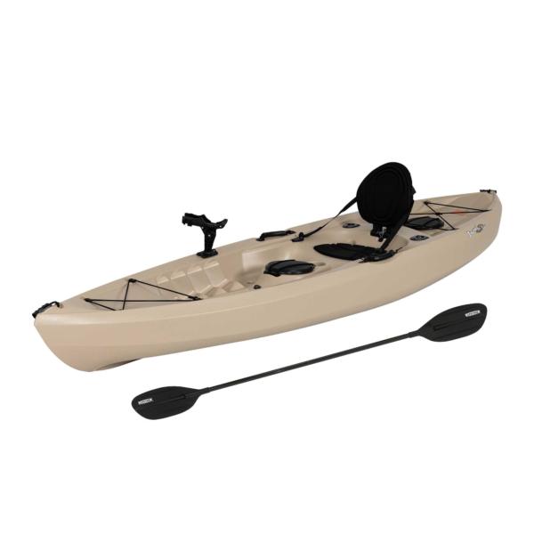 Lifetime Tamarack Angler 100 Fishing Kayak (Paddle Included), 90508, Size: 10', Beige