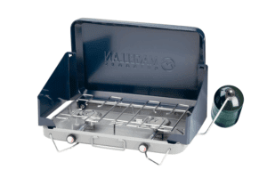 Magellan Outdoors 2-Burner Propane Stove Blue/Gray - Camping Appliances at Academy Sports