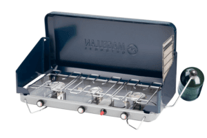 Magellan Outdoors 3-Burner Propane Stove with Toaster Accessory Navy Blue - Camping Appliances at Academy Sports