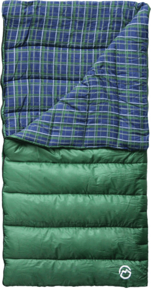 Magellan Outdoors 4 lbs Flannel Lined Rectangle Sleeping Bag Green Dark - Family Tech Sleeping Bags at Academy Sports