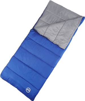 Magellan Outdoors Rectangle Sleeping Bag Blue - Family Tech Sleeping Bags at Academy Sports