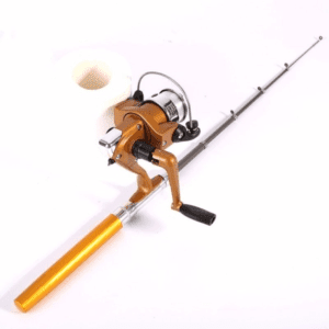 Mini Outdoor Camping Travel Baitcasting Telescopic Pocket Pen Fishing Rod Pole Aliminum Alloy + Reel+ Nylon Fishing line