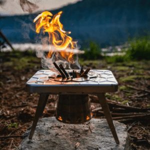 nCamp - Multi-Fuel Compact Camp Stove (Wood, Gas & Solid/Liquid Fuels)