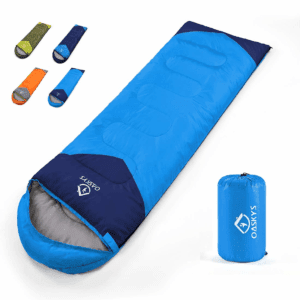 oaskys Camping Sleeping Bag - All Season Warm & Cool Weather - Summer, Spring, Fall, Winter, Lightweight, Waterproof for Adults & Kids - Camping