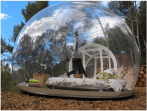 Outdoor 3-4 Persons Micro Tree House Bubble Cabins Inflatable House Bubble Tent and Room Party Hiking Camping Tent with Panoramic Views-Eco Resort Co
