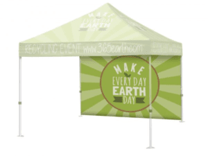 Outdoor Event Tent Back Wall (No Top & Frame)