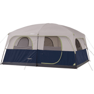 Ozark Trail 10 Person 2 Room Straight Wall Family Cabin Tent, Blue