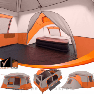 Ozark Trail 11 Person 3 Room Instant Cabin Tent Outdoor Camping &