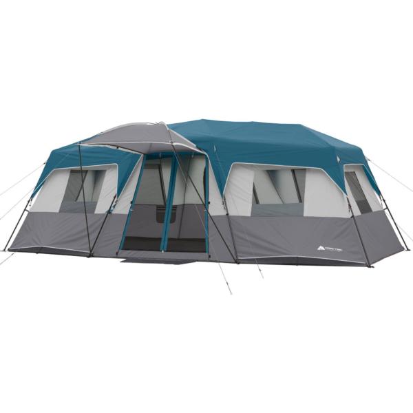 Ozark Trail 20' x 10' x 80 inch Instant Cabin Tent, Sleeps 12, Blue