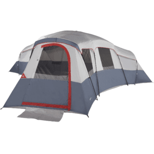 Ozark Trail 20-Person 4-Room Cabin Tent with 3 Separate Entrances, Beige