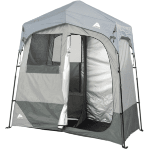 Ozark Trail 2-Room Instant Shower/Utility Shelter, Gray