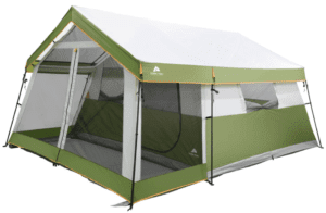 Ozark Trail 8-Person Family Cabin Tent with Screen Porch, Gray/Green