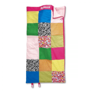 "Personalized Patchwork Sleeping Bag ,Soft and Comfortable -30"" x 60""L"